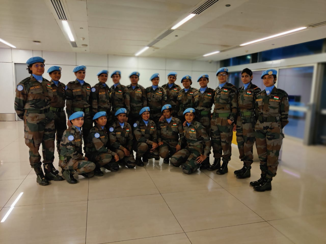 India's Female Engagement Team on way to assume duties in DRC