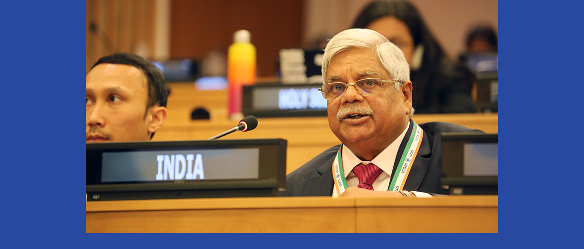 "Shri Vishnu Dayal Ram, Hon'ble Member of the Parliament at the Second Committee meeting on Agenda Item 17 <br> ""ICTs for Sustainable Development"""