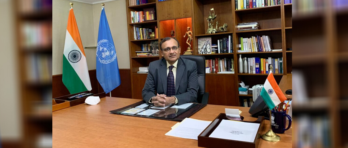 Amb. T. S. Tirumurti presented his credentials virtually and assumed charge as <br>Permanent Representative of India to the United Nations