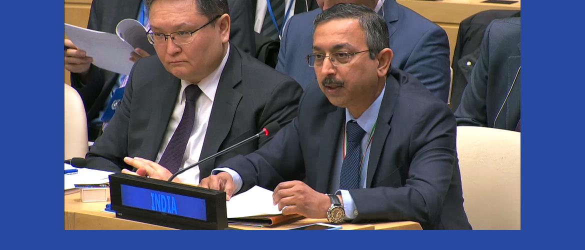Ambassador Tanmaya Lal, Deputy Permanent Representative at the Second High-Level Special Event of the UN <br> and Shanghai Cooperation Organisation