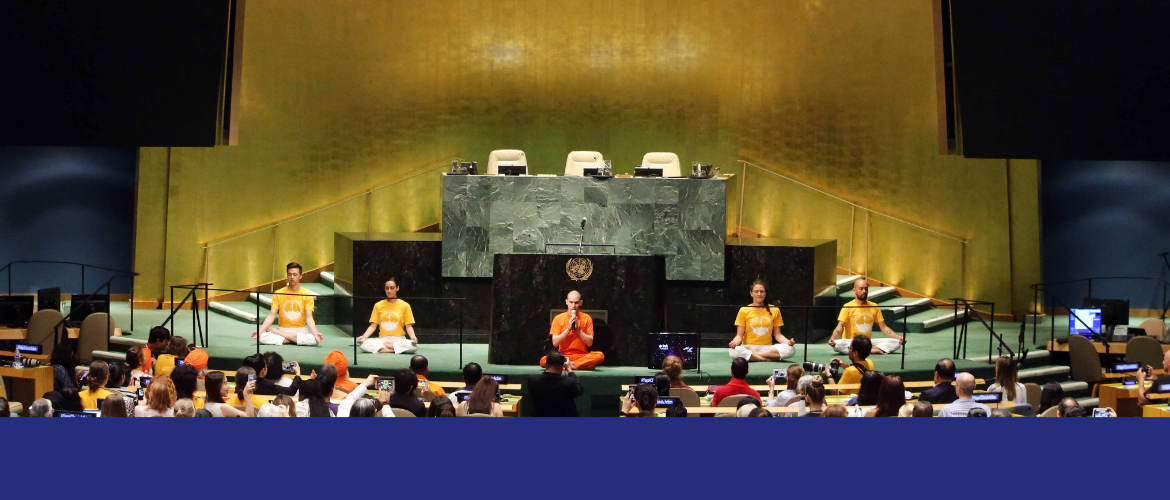Celebrating 5th International Day of Yoga at United Nations