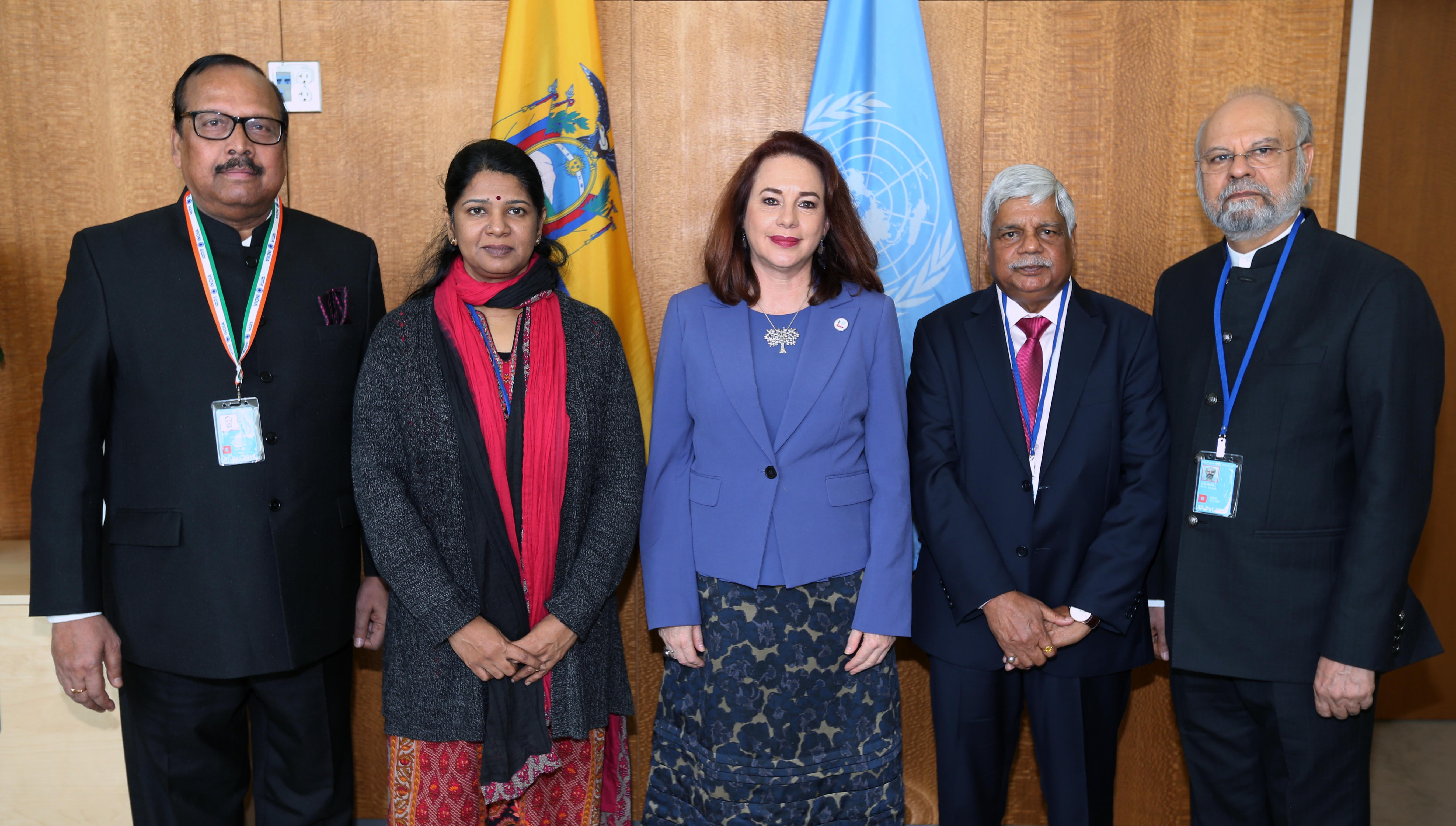Members of Parliament meet President of the 73rd UN General Assembly Ms. María Fernanda Espinosa Garcés