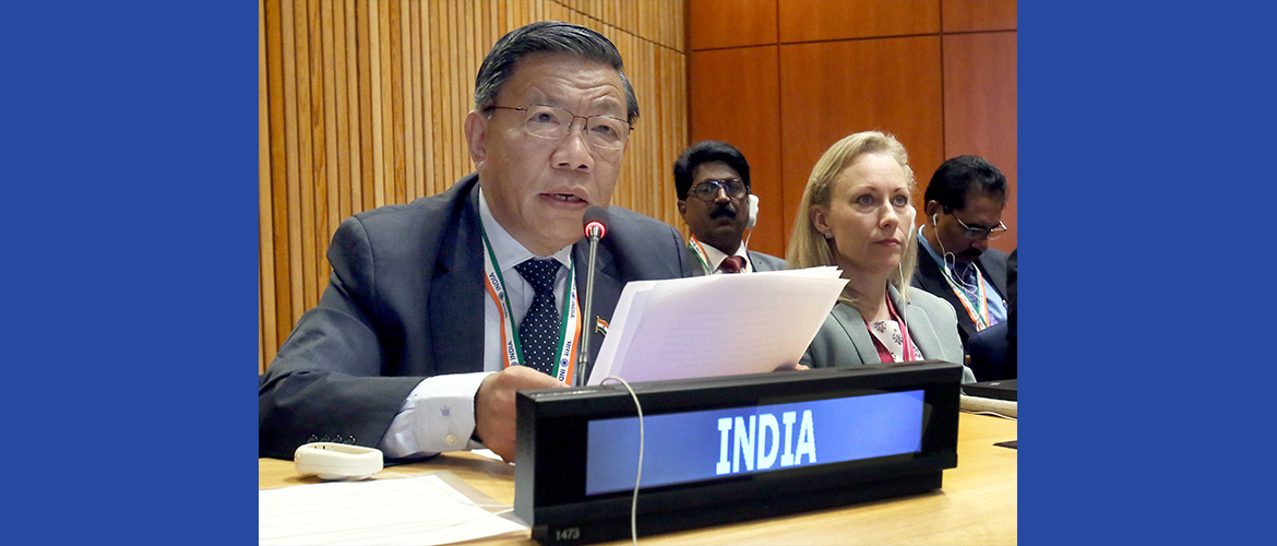 "Shri Prem Das Rai, Hon'ble Member of Parliament at the Sixth Committee meeting on Agenda Item 86 ""The Rule of Law at the National and International Levels"""