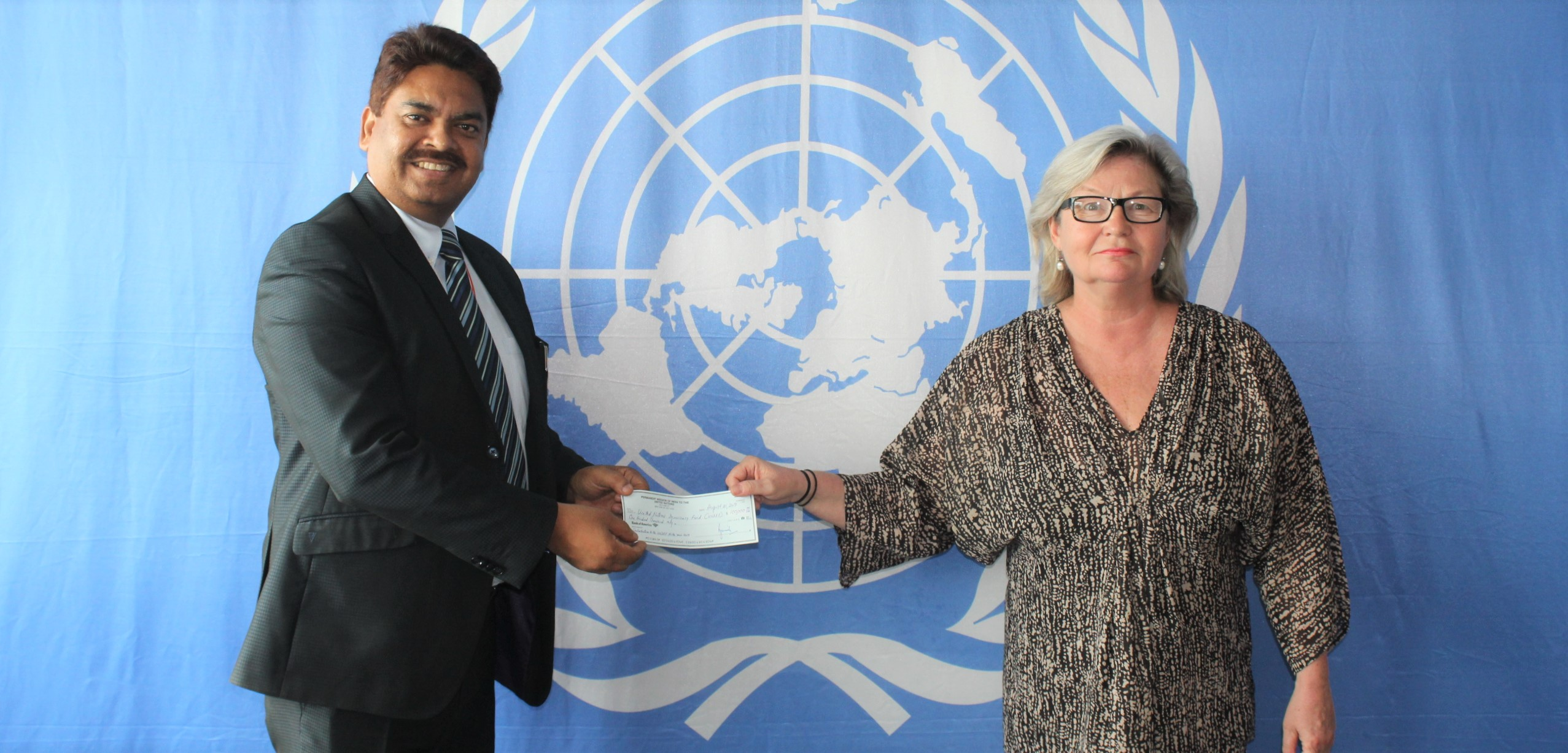 India presents its annual contribution to the United Nations Democracy Fund