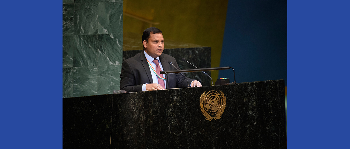 "Mr. Ashish Sinha, Counsellor at the UN General Assembly Plenary meeting on Agenda Item 68 <br> ""New Economic Partnership for Africa's Development"""