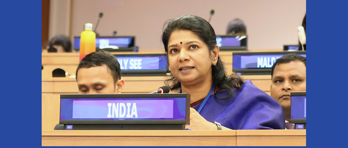 "Ms. Kanimozhi Karunanidhi, Hon'ble Member of the Parliament at the Second Committee Meeting on Agenda Item 20 ""Sustainable Development"""