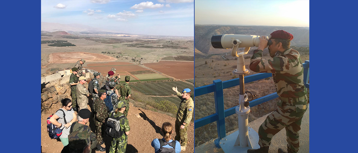 India's Military Advisor participates in the Military Police Advisors Committee field trip to Israel, Syria and Lebanon