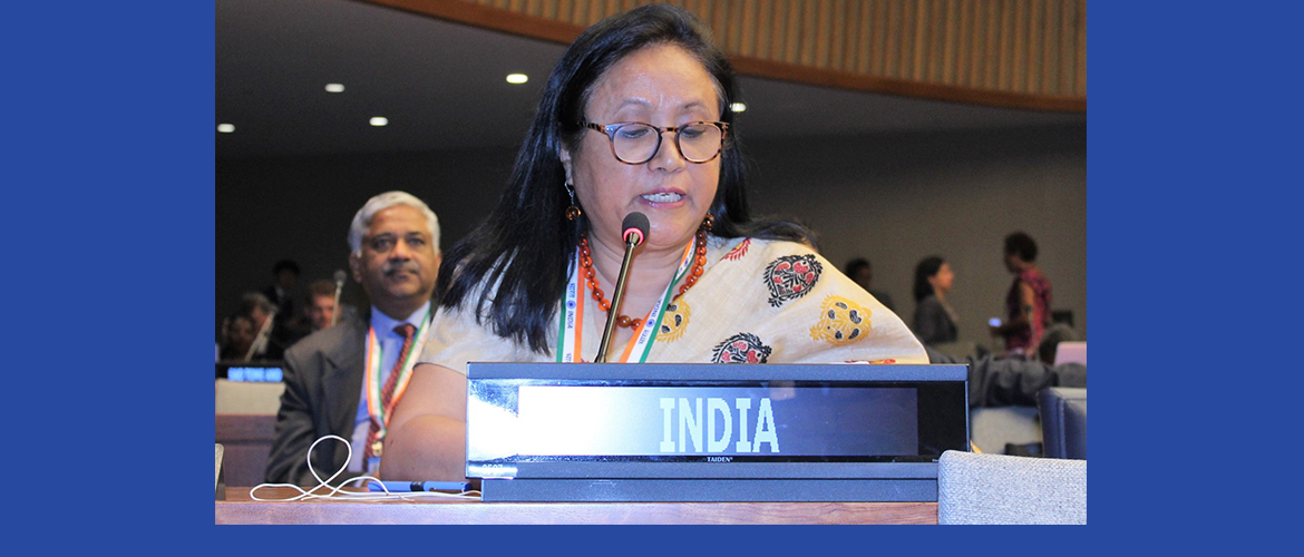 Mrs. Shakuntala Doley Gamlin, Secretary, Department of Empowerment of Persons with Disabilities, Ministry of Social Justice & Empowerment at the 12th Conference of State Parties to the Convention on <br>Rights of Persons with Disabilities