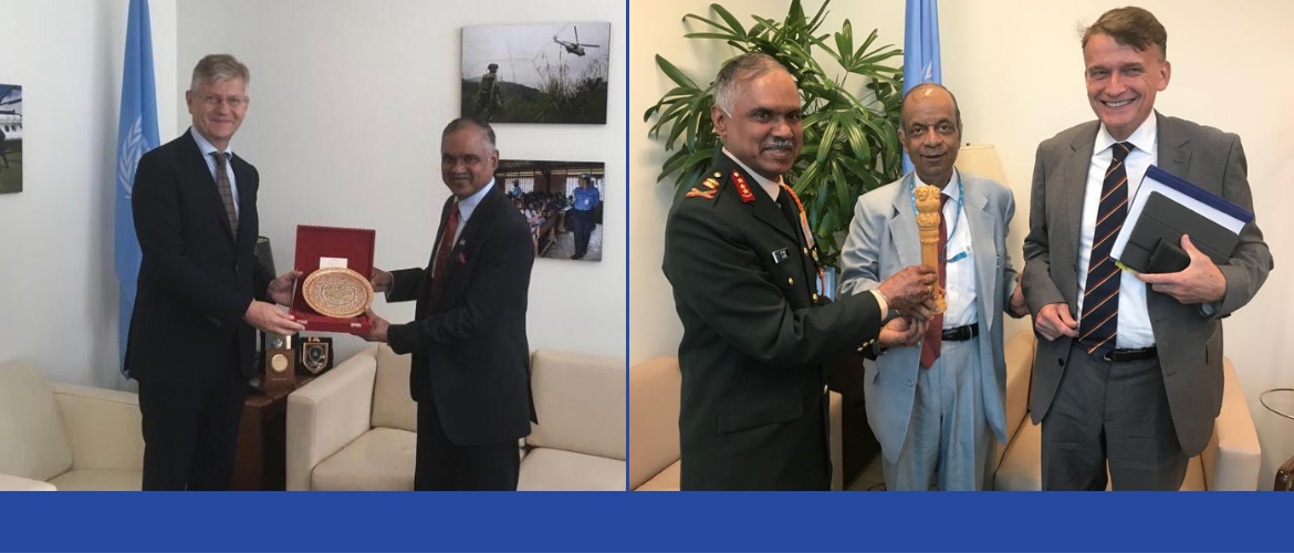 Lieutenant General Devraj Anbu, Vice Chief of Army Staff meets Mr. Jean-Pierre Lacroix, USG for Peace Operations and Mr. Atul Khare, USG for Operational Support