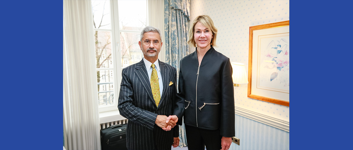 Dr. S. Jaishankar, External Affairs Minister meets Ambassador Kelly Craft, Permanent Representative of the United States of America to the UN on the sidelines of the Munich Security Conference 2020