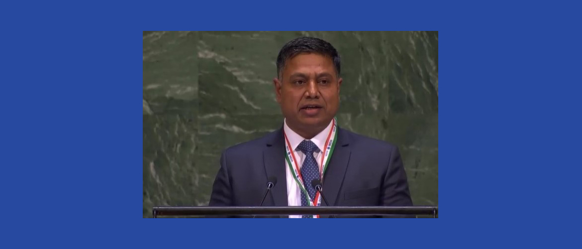 Mr. Sanjay Rana, Director General at the High-level plenary meeting  To commemorate and promote the International Day of Multilateralism and Diplomacy for Peace