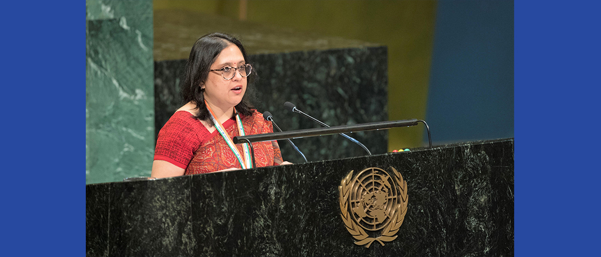 Ms. Paulomi Tripathi, First Secretary at the UN General Assembly Plenary meeting on Agenda Item: 121 Commemoration of the Abolition of Slavery and the Transatlantic Slave Trade : Report of the Secretary-General