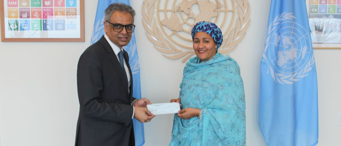 India contributes US$1 Million to the UN Special Purpose Trust Fund for the Resident Coordinator System