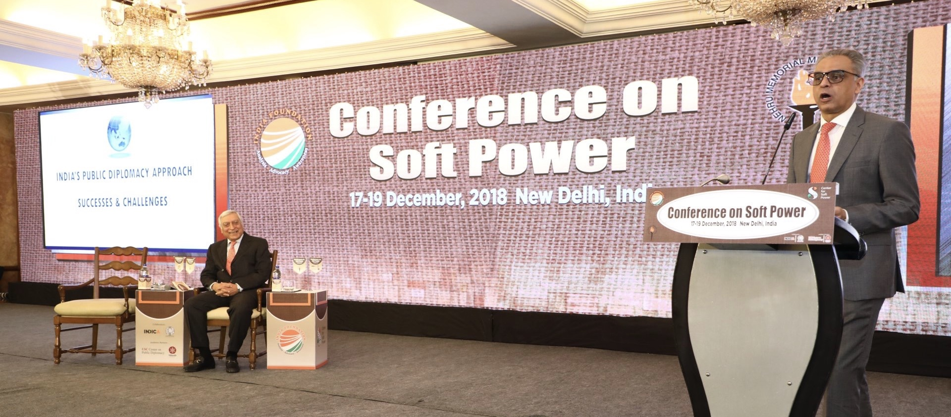 "Ambassador Syed Akbaruddin, Permanent Representative delivering the Keynote Address in the Session <br> ""Public Diplomacy, Successes And Challenges in Nation Building"" at the Conference on Soft Power"