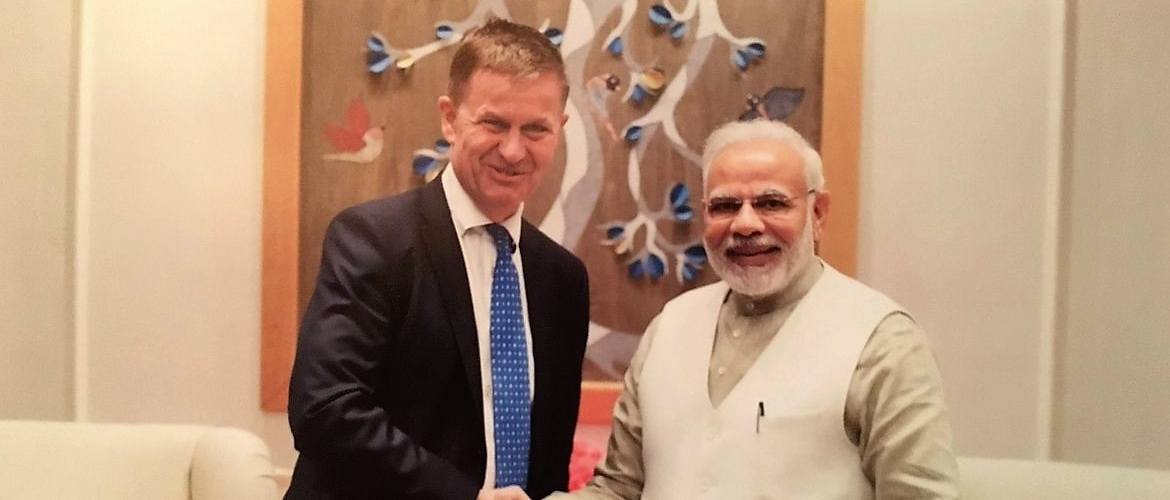 Head of UN Environment Erik Solheim calls on Prime Minister Modi in Delhi